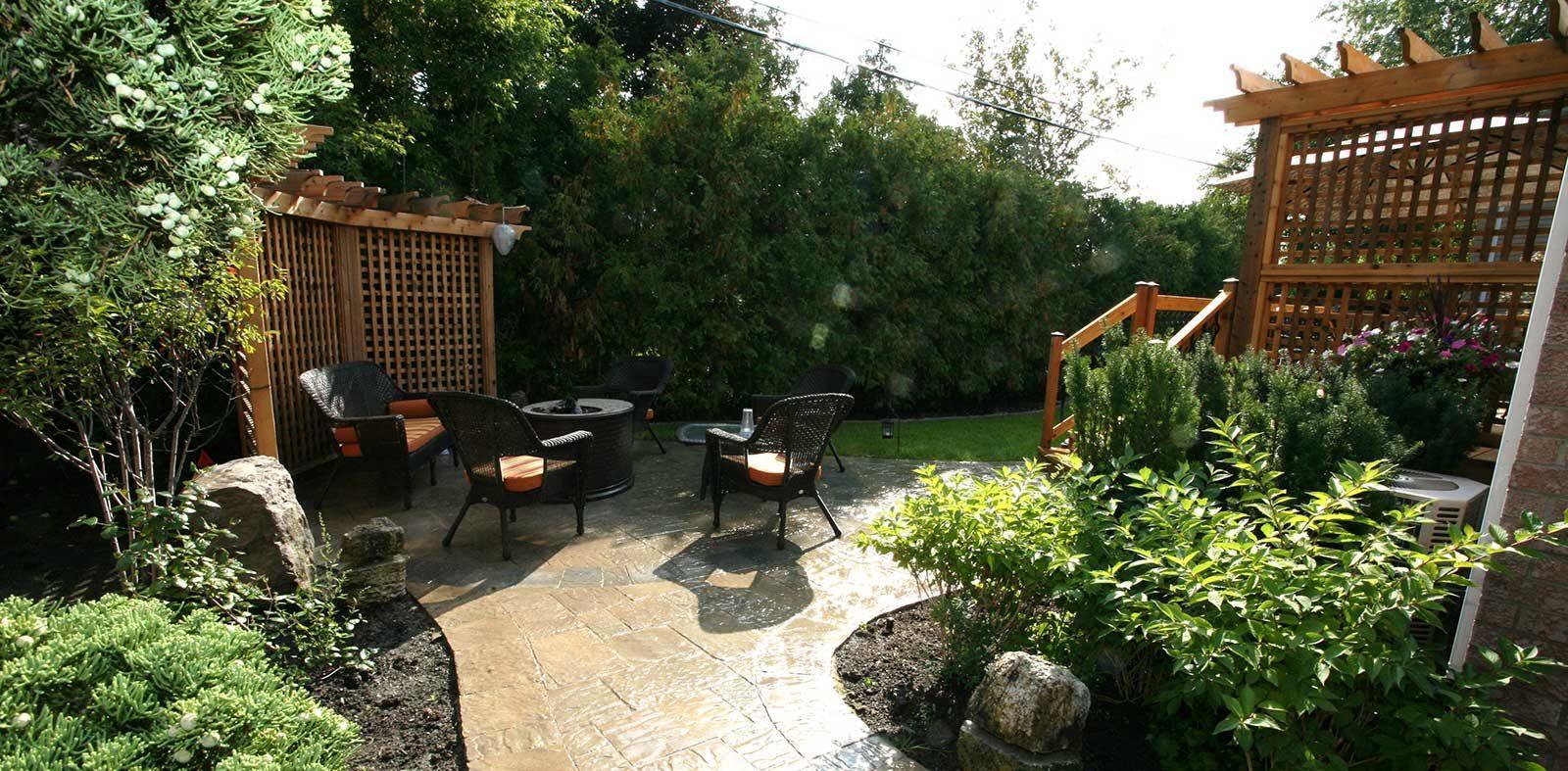 back yard landscaping